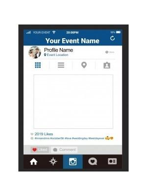CUSTOM Social Media Style Selfie Posing Frame – Style 2