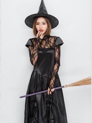 Spiderweb Witch Fancy Dress Costume