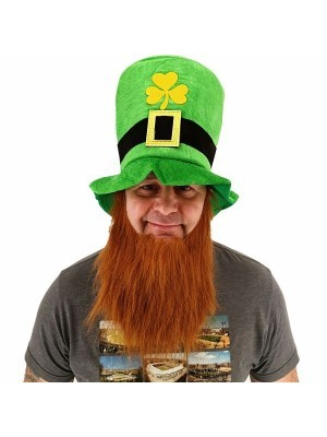 St Patrick's Day Leprechaun Green Hat and Ginger Beard