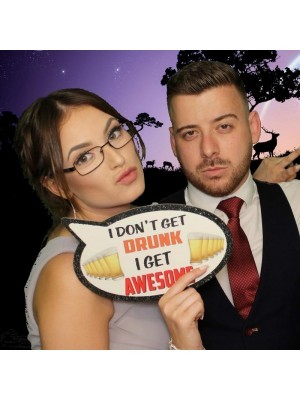 Still Got It & I Don't Get Drunk I Get Awesome, Double-Sided PVC Speech Bubble Photo Booth Word Board Signs
