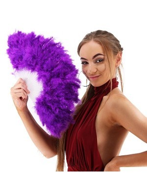 Stunning Purple Feather Fan