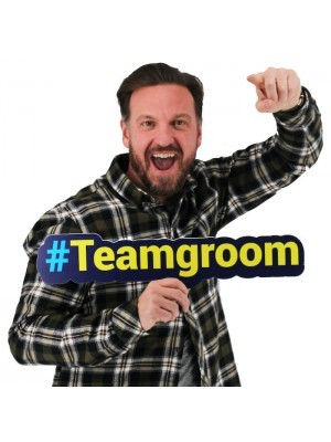 #TEAMGROOM Trending Hashtag Oversized Photo Booth PVC Word Board Sign
