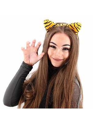 Tiger Print Animal Ears Headband