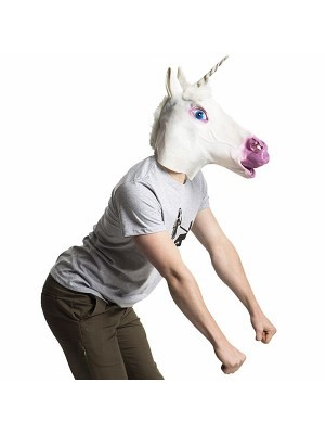 Fancy Dress Costume Unicorn Head Mask Props