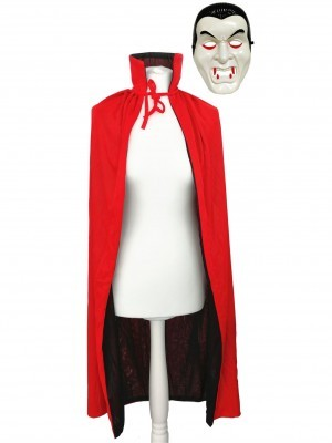 Vampire Mask And Cloak Set