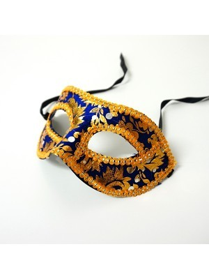 Venetian Embroided Mask Blue
