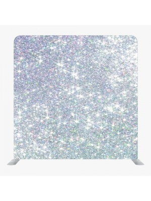 8ft*7.5ft Gold Glitter and Silver Glitter Effect Backdrop, With or Without Tension Frame