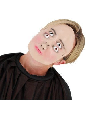 Creepy Weird Two Faced Face Mask Halloween Fancy Dress Costume