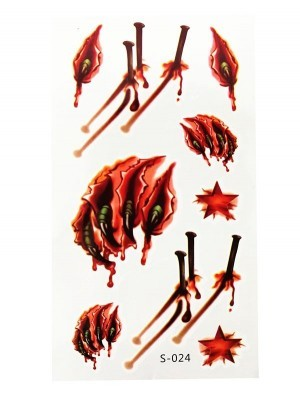 Werewolf Claws Temporary Tattoo Pack- S-024
