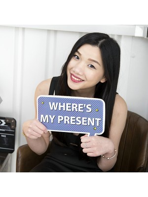 'Where's My Present' Word Board Photo Booth Prop