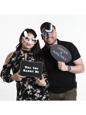 'Single & Available' Speech Bubble Photo Booth Prop