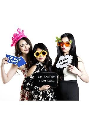 'I'm Tastier Than cake' Black Speech Bubble Photo Booth Prop