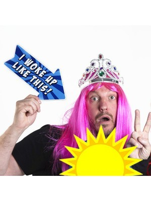'I Woke Up Like This' Word Board Photo Booth Prop