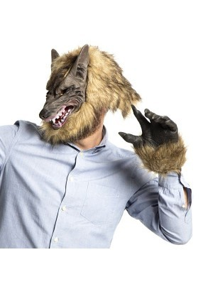 Fancy Dress, Costume Wolf Head Mask and Paws