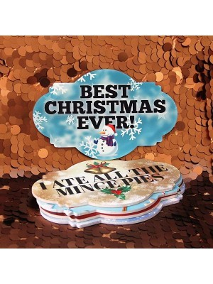 Set of 5 PVC Double-sided Xmas Photo Booth Props  Pack 4