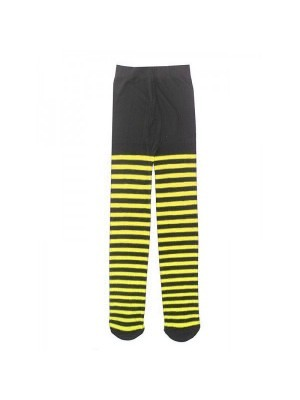 Kids Tights - Black & Yellow Bumble Bee Stripes