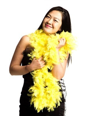 Luxury Yellow Feather Boa – 80g -180cm