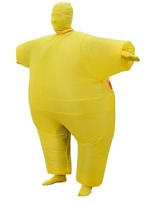 Yellow Mega Morph Inflatable Sumo Suit Fancy Dress Costume