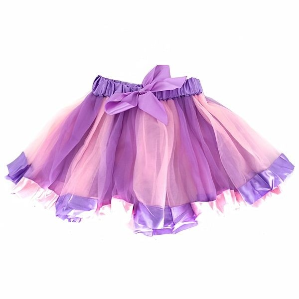 f178d4e01 Dreamy Pink and Purple Tutu with Ribbon Trim and Bow