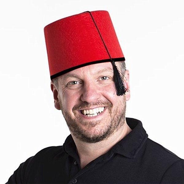 Felt Fez Hat British International Party Decoration Costume Prop