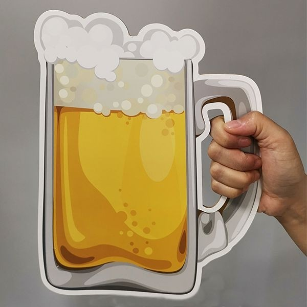 Giant Frothy Beer Glass (Right Handle) Word Board Photo