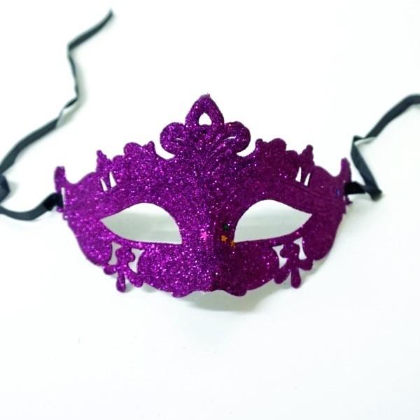 Glitzy Masquerade Mask Purple - photo#36