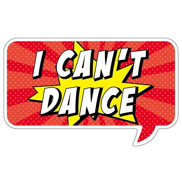 i can t dance word board photo booth prop. Black Bedroom Furniture Sets. Home Design Ideas