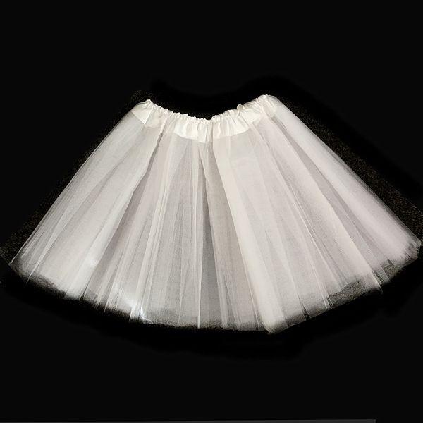 Kids Size White Tutu Skirt