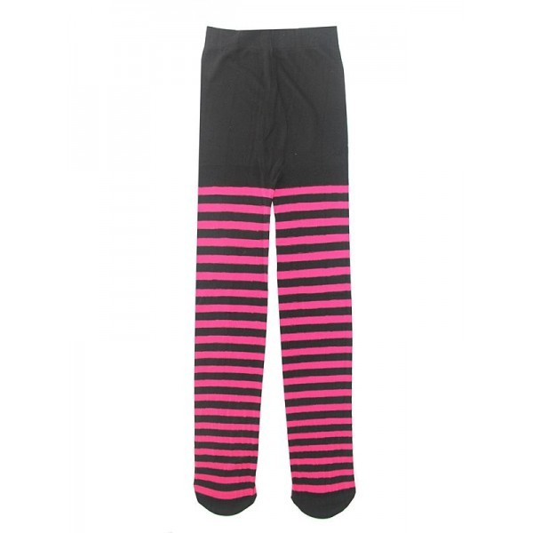 131cd010d39f2 Kids Dark Pink & White Striped Tights