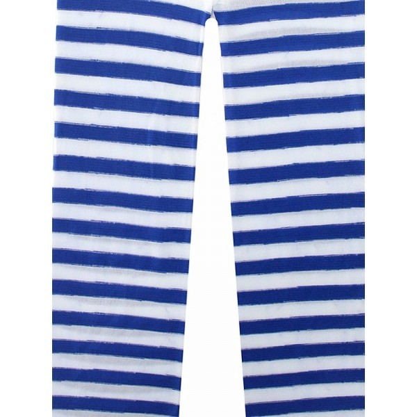 80d0d454d15a6 Kids Blue & White Striped Tights