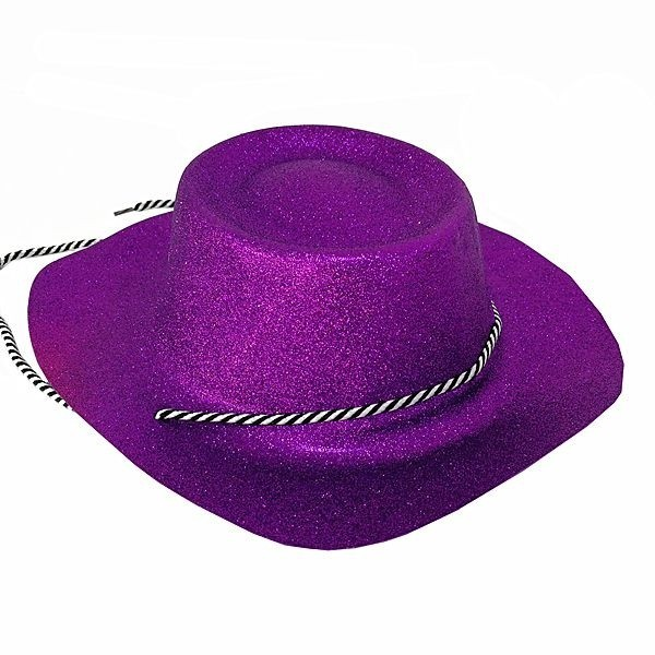 c30aa3a3e2e5b ... Purple Cowboy Hat  Purple Glitzy Cowboy Hat