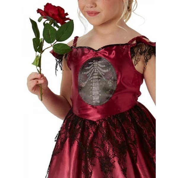 Children HALLOWEEN Blood Tutu Skirt Halloween Costume Fancy Dress Red Ribbon Bow