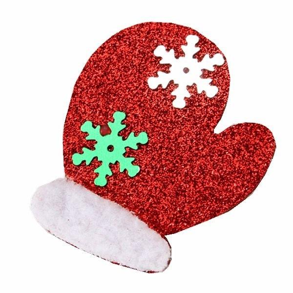 Christmas Hair Clips.Red Mitten Christmas Hair Clip