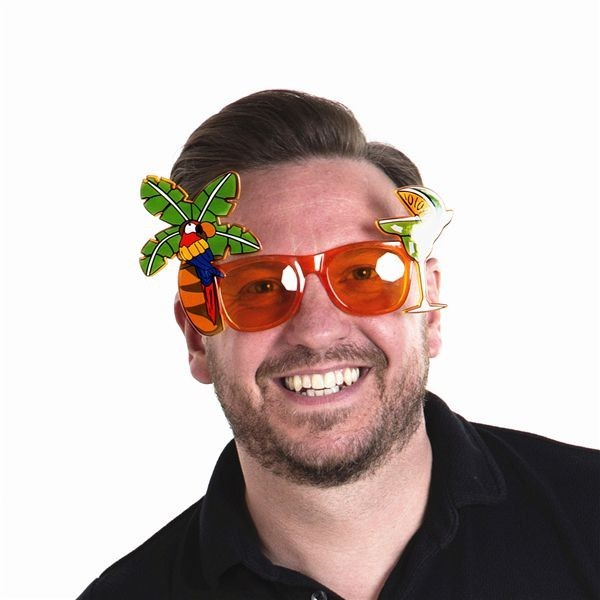 Tropical Palm Tree And Cocktails Sunglasses