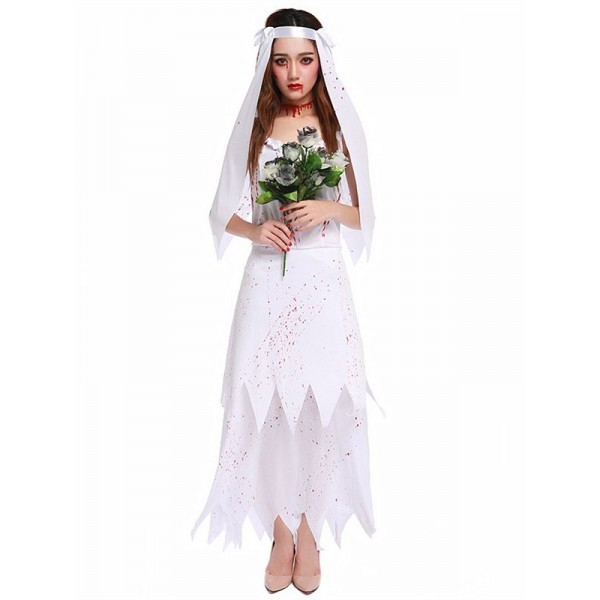 Zombie Bride Women\u0027s Halloween Fancy Dress Costume