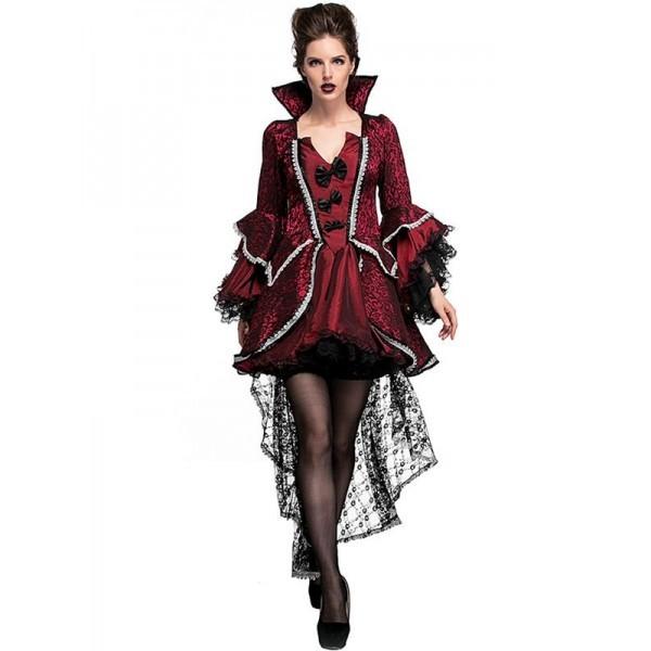 Short Luxury Vampiress Women\u0027s Halloween Fancy Dress Costume UK Size 12